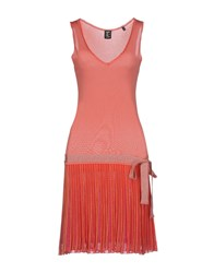 Tricot Chic Short Dresses Coral