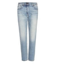 The Row Ashlands Cropped Straight Jeans Blue