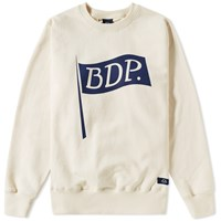 Bleu De Paname Flag Logo Crew Sweat Neutrals