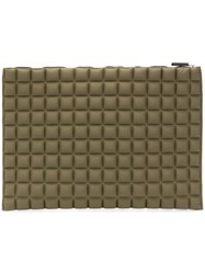 No Ka' Oi Chocolate Bar Quilted Clutch Green