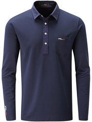 Rlx Ralph Lauren Long Sleeved Pocket Polo Navy