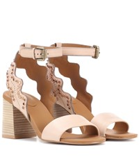 See By Chloe Embellished Leather Sandals Black