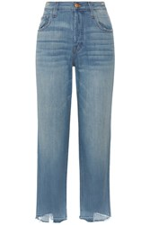 J Brand Ivy High Rise Straight Leg Jeans Mid Denim