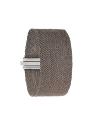 Carolina Bucci 18Kt Black Gold 'Woven' Cuff Metallic