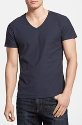 Men's Diesel 'Tossik' V Neck T Shirt Navy Blue