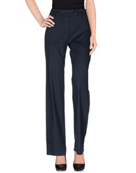 Clips More Trousers Casual Trousers Women Dark Blue