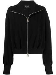 Andrea Ya'aqov Zipped Bomber Jacket Black