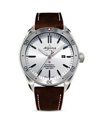 Alpina Alpiner 4 Automatic Watch 44Mm Silver Brown