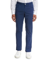 Brioni Five Pocket Twill Pants Blue