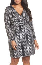Tart Plus Size Women's April Print Jersey Faux Wrap Dress