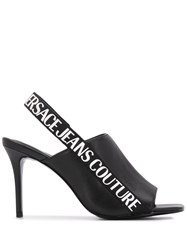 Versace Jeans Couture Sling Back Open Toe Heels 60