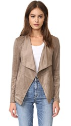 Bb Dakota Nicholson Faux Suede Jacket Mocha