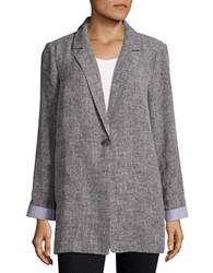 Vero Moda Textured Boyfriend Blazer Black Grey