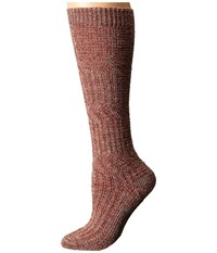 Smartwool Wheat Fields Knee Highs Moab Rust Heather Women's Knee High Socks Shoes Red