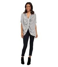 Culture Phit Jazlin Twisted Sweater Heather Grey Women's Sweater Gray