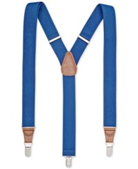 Club Room Men's Solid Stretch Suspenders Only At Macy's Blue