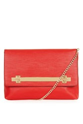 Topshop Solid Lock Cable Clutch Red