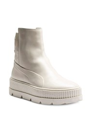 Fenty Puma By Rihanna Leather Chelsea Sneaker Boots White