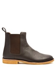 Bottega Veneta Panelled Grained Leather Chelsea Boots Brown