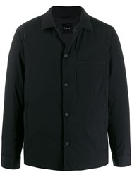 Theory Button Up Jacket Black