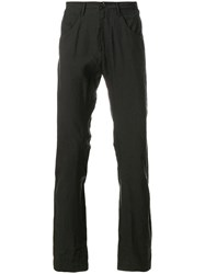 Ziggy Chen Straight Leg Trousers Grey