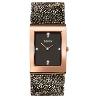 Sekonda Women's Seksy Swarovski Crystal And Crystal Rock Bracelet Strap Watch Brown Black 2653.37