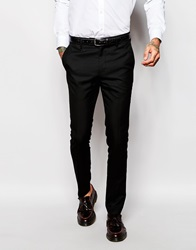 Religion Tuxedo Suit Trousers In Skinny Fit Black