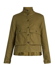 The Great Swingy Pocket Front Army Jacket Khaki