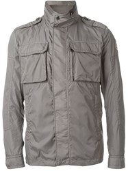 Moncler Military Style Jacket Grey