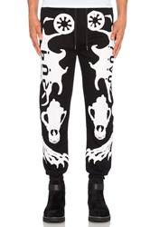 Ktz Skeleton Puff Print Jogger Black And White