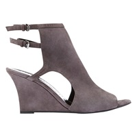 Mint Velvet Mint Vevet Sarah Cut Away Wedge Heeled Sandals Grey Suede