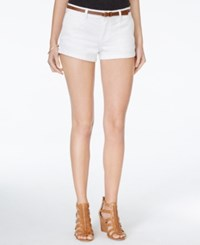 American Rag Cuffed Belted Colored Denim Shorts Only At Macy's Off White