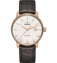 Rado R22877025 Coupole Classic Automatic Rose Gold Plated Stainless Steel And Leather Watch