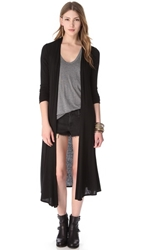 Riller And Fount Norma Extra Long Cardigan Black