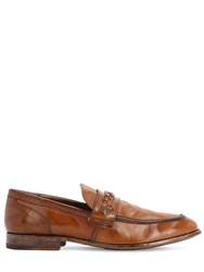 Moma Waxed Leather Loafers Brown