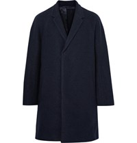 Cos Boiled Wool Overcoat Midnight Blue