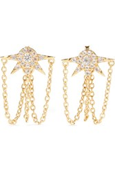 Elizabeth And James Rigel Gold Tone Crystal Earrings One Size