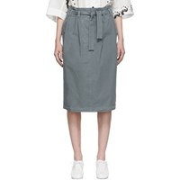 Christophe Lemaire Grey Martial Skirt