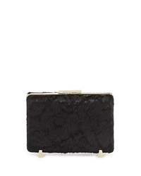 Alexander Wang Chastity Calf Hair Minaudiere Evening Clutch Bag Black