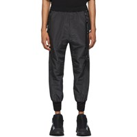 Julius Black Taffeta Track Pants