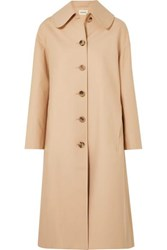 Khaite Doris Cotton Gabardine Trench Coat Beige