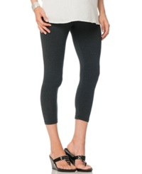 A Pea In The Pod Skinny Cropped Maternity Leggings Charcoal