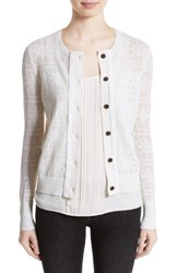 Burberry Women's River Elvo Wool And Cashmere Cardigan