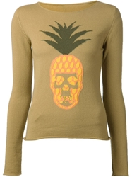 Lucien Pellat Finet Lucien Pellat Finet Pineapple Skull Sweater Green