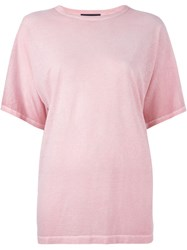 Diesel Black Gold Loose Fit T Shirt Pink And Purple