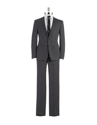 Dkny Slim Fit Two Piece Wool Suit Grey