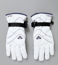 Roxy Jetty Solid Gloves In White