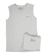 Columbia Cotton Stretch Muscle T Shirt 2 Pack Grey Heather Men's Underwear Gray