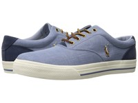 Polo Ralph Lauren Vaughn Blue Indigo End Canvas Sport Suede Shoes