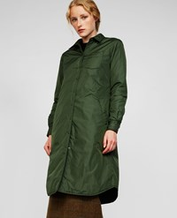 Aspesi Taffeta Coat Sambuca Dark Green